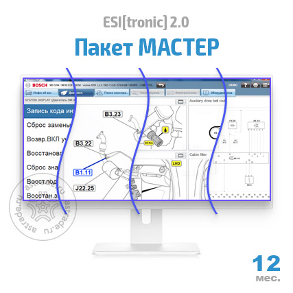 "Bosch ESI[tronic] 2.0: Пакет ""МАСТЕР"" (SD, SIS, M, P, TSB)"