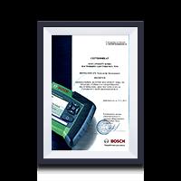 Сертификат дилера Bosch 2017