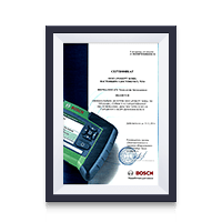 Сертификат дилера Bosch 2016