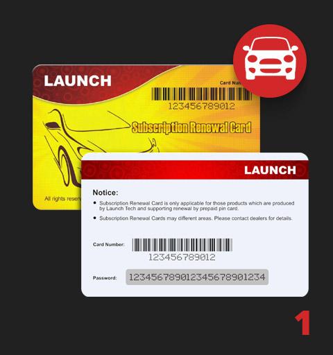 Launch PIN CARD [Легковые]
