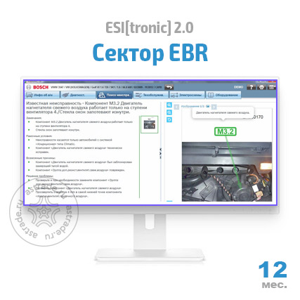 Bosch ESI[tronic] 2.0: Сектор EBR