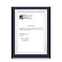 Сертификат официального дистрибьютора Werther, OMA.