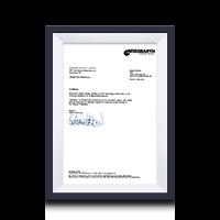 Сертификат дистрибьютора BEISSBARTH