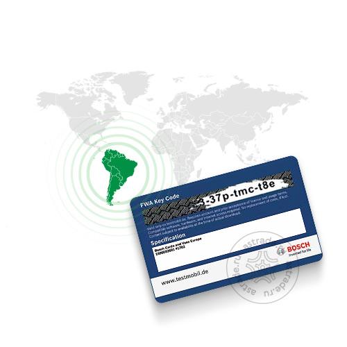 База данных автомобилей «Латинская Америка» для Bosch FWA