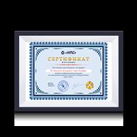 Сертификат дилера НПП НТС 2016