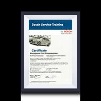 Сертификат тренера Bosch 2013