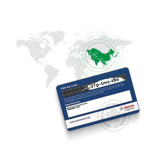 База данных автомобилей «Азия» для Bosch FWA