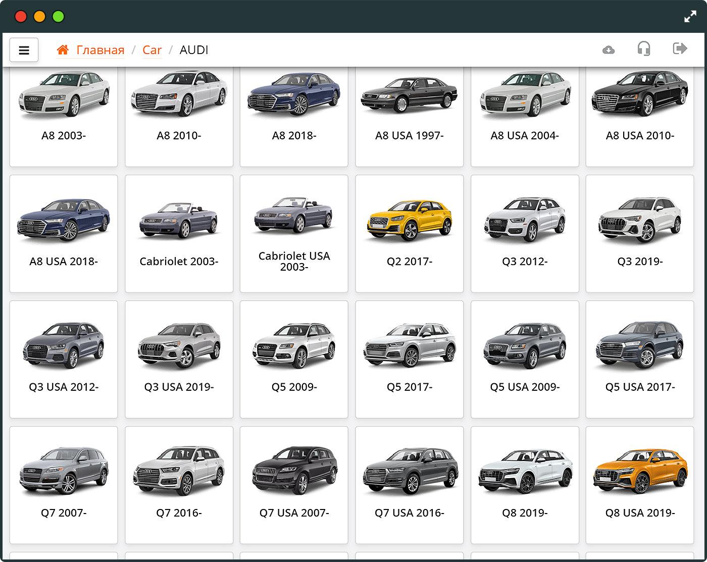 ScanDoc выбор модели автомобиля