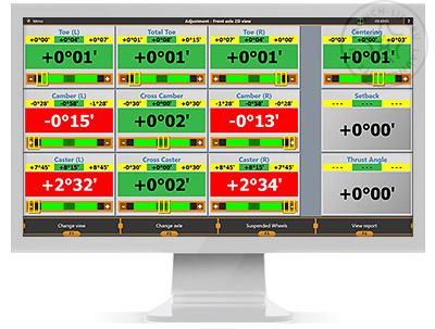 Экран регулировки 2D-вид