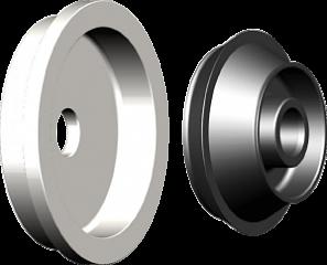 Комплект для колес c большим центральным отверстием Bosch 654627