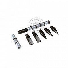 Набор для осадки металла (основа + 6 наконечников)