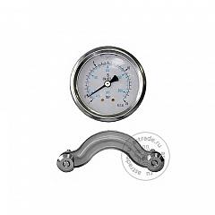 Манометр низкого давления Robinair 1601028, для AC350-AC490PRO, D.63, -1/30 Бар